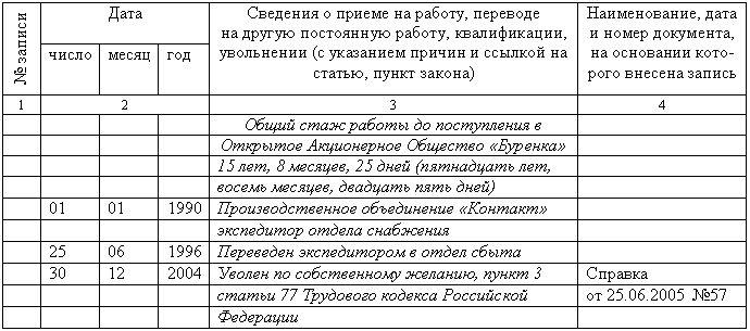 Правила Оформления Дубликата Трудовой Книжки Образец - фото 11