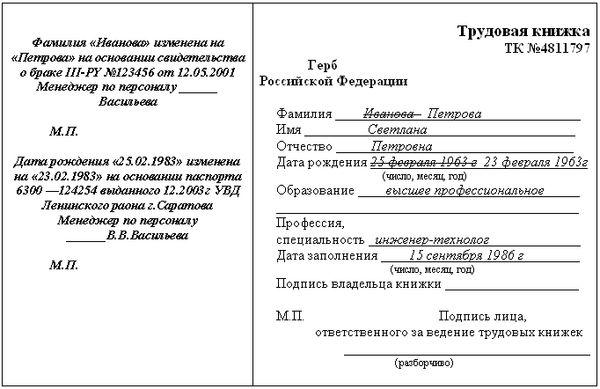 Изображение - Заполнение титульного листа трудовой книжки 009-6-kak-zapolnit-titulniy-list-trudovoy