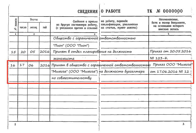 Договор по Внешнему Совместительству пример - картинка 2