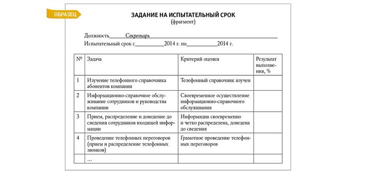 Отчет по испытательному сроку