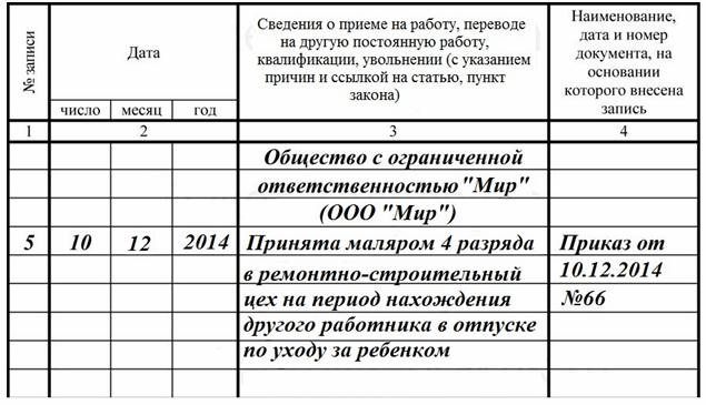 Образец заявления о приеме на работу на время отпуска основного работника — Юристы Тольятти
